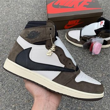 Travis Scott x Air Jordan 1 High OG TS SP CD4487-100