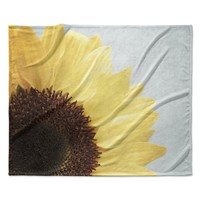 "Susannah Tucker ""Sunshine"" Sunflower Fleece Throw Blanket"