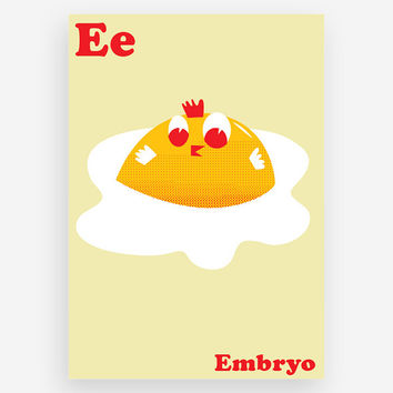 E is for Embryo Print