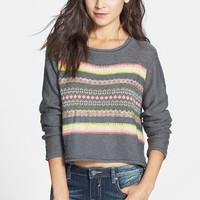 Love on a Hanger Pattern Crop Pullover (Juniors)