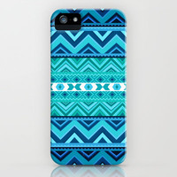 Blue #4 iPhone & iPod Case by Ornaart