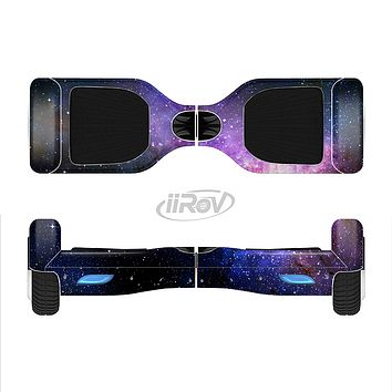 The Vibrant Purple and Blue Nebula Full-Body Skin Set for the Smart Drifting SuperCharged iiRov HoverBoard