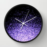 infinity in purple Wall Clock by Marianna Tankelevich