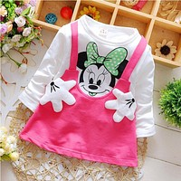 2017 Spring fall newborn infant girls baby wear clothes brand sports dress for baby's clothing girls party princess dresse dress