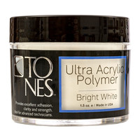 Ultra Acrylic Powder: Sparkling Bright White | Polvo de Acrílico Ultra:  Blanco Brillante con Brillo