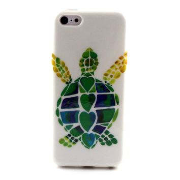 Colorful Tortoise Pattern Soft TPU Phone Case Cover For Apple iPhone 5C