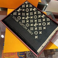 LV Louis Vuitton embroidered letters fringed fringe men women scarf