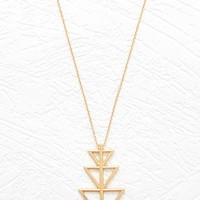 Longline Geo Pendant Necklace
