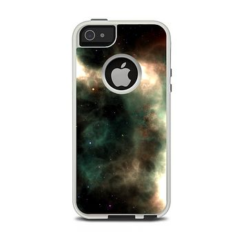 The Dark Green Glowing Universe Apple iPhone 5-5s Otterbox Commuter Case Skin Set
