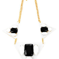 Black & White Floating Gems Necklace