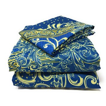 Tache Star Gazing Blue Damask Duvet Cover (2133)