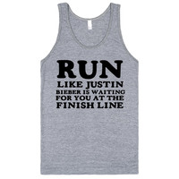 RUN LIKE JUSTIN BIEBER IS WAITING FOR YOU AT THE FINISH LINE