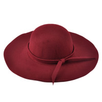 2017 Two Stylish Vintage Fashion Solid Felt Women Woolen Fedora Bowlers Hat Cap for Ladies Girls Multi-Color