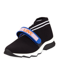 Fendi Knit Trainer with Rubber Strap