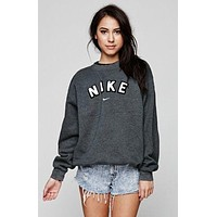 Nike Casual Long Sleeve Plus Velvet Top Sweater Pullover