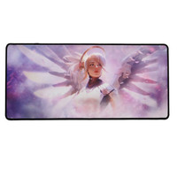 Mercy Extended Mouse Pad w/ Stitched Edges | Overwatch