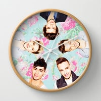 One Direction Flowers Wall Clock by dan ron eli