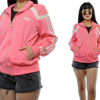 vintage 90s ADIDAS pink track jacket bomber pastel CUTE athleticwear small