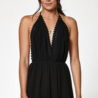 Kendall and Kylie Halter Crochet Trim Romper at PacSun.com