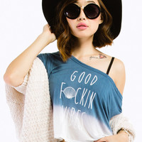 Good Vibes Dolman Dip-Dye Top