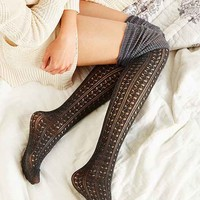 Tonal Scrunch Over-The-Knee Sock
