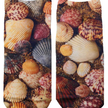 Seashells Ankle Socks