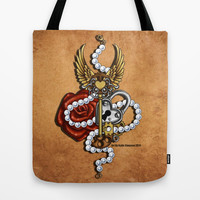 Key To My Heart Tote Bag by Katie Simpson   Society6