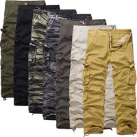 Winter Cotton Camouflage Casual With Pocket Men Pants [6541433091]
