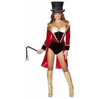 Sexy Ring Leader Slimming Corset Front Halloween Costume