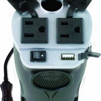 Rally 200-Watt Cup Holder Power Inverter with USB Port (7413)