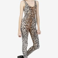 Unitard Jumpsuit in Wild Animal Print - By Motel