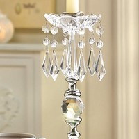 12 New Clear Acrylic Drops Candleholder Jeweled Wedding Party Centerpieces Decor