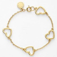 Women's MARC BY MARC JACOBS 'Chasing Hearts' Station Bracelet - Oro