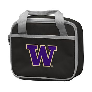 UNIVERSITY OF WASHINGTON BLACK LUNCH BOX F/ PRIMARY LOGO