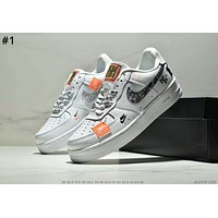 NIKE AIR FORCE 1 x OFF-WHITE Joint series low men and women models wild casual double hook sports shoes #1