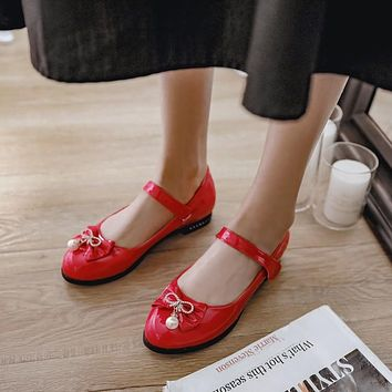 Women's Bow Low Heels Shoes