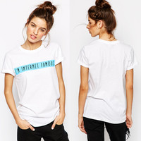 White I'm Internet Famous Print Short Sleeve Graphic Tee