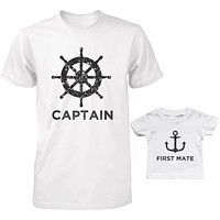 Captain And First Mate Father And Son Matching Shirts