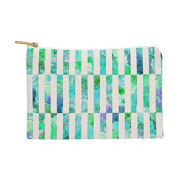 Bianca Green Floral Order Mint Pouch