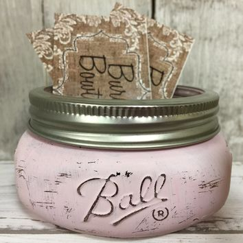 Mason Jar Business Card Holder