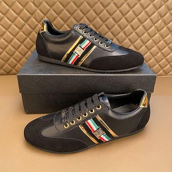 DOLCE&GABBANA 2021 Men Fashion Boots fashionable Casual leather Breathable Sneakers Running Shoes10170wk