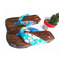 BREEZY WIND Women's Clogs Floral National Wind Sandals