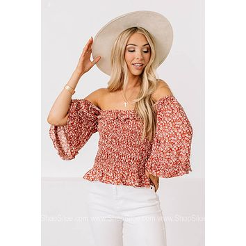 Where You're Planted Smocked Waist Top
