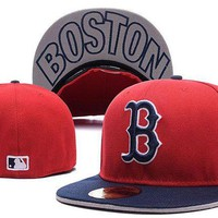 DCCKBE6 Boston Red Sox New Era MLB Authentic Collection 59FIFTY Cap Red-Blue