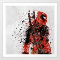 Deadpool Art Print by Melissa Smith