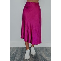 Speak Your Truth Skirt: Magenta