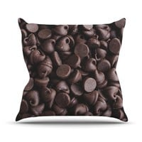 """Kess InHouse Libertad Leal """"Yay! Chocolate"""" Candy Outdoor Throw Pillow, 26 by 26-Inch"""