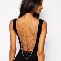 ASOS Body with Chain Back - Black