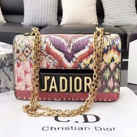 DIOR has popular one-shoulder shopping bag with contrasting colors and prints for casual ladies