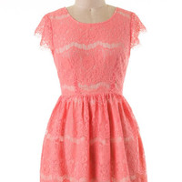 Southern Belle Dress - Coral